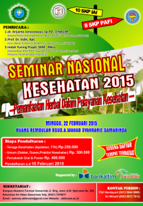 Seminar nasional Kesehatan 2015