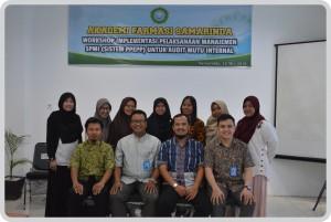 Workshop Implementasi Pelaksanaan Manajemen SPMI(Sistem PPEP) Untuk Audit Mutu Internal
