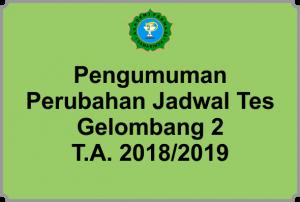 Pengumuman PMB 2018